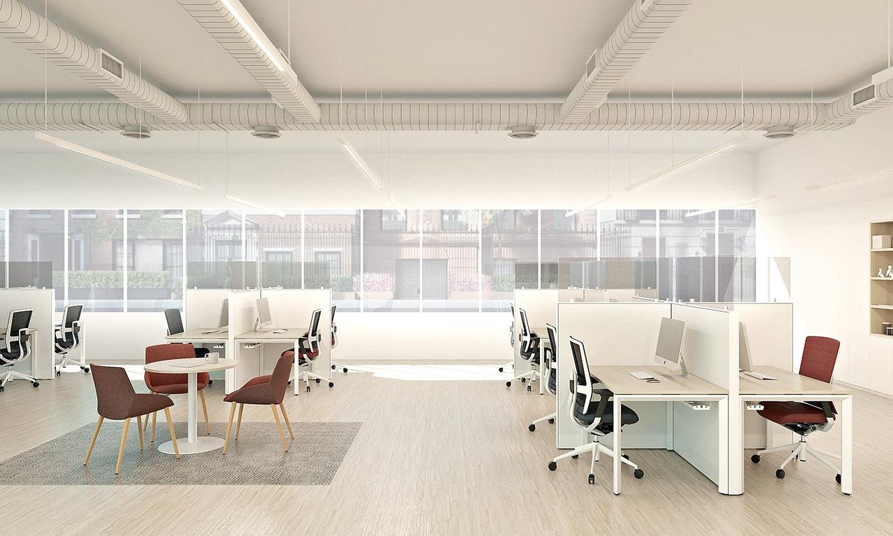 priestranny open office na vizualizacii