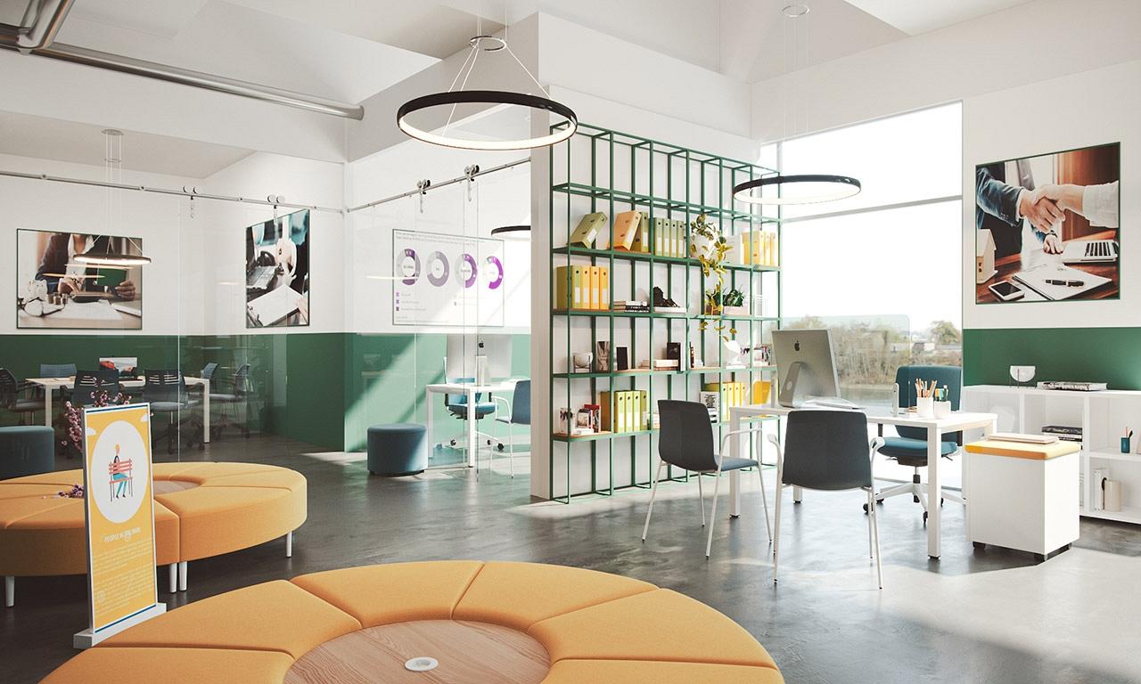 moderny predajny priestor retail na vizualizacii