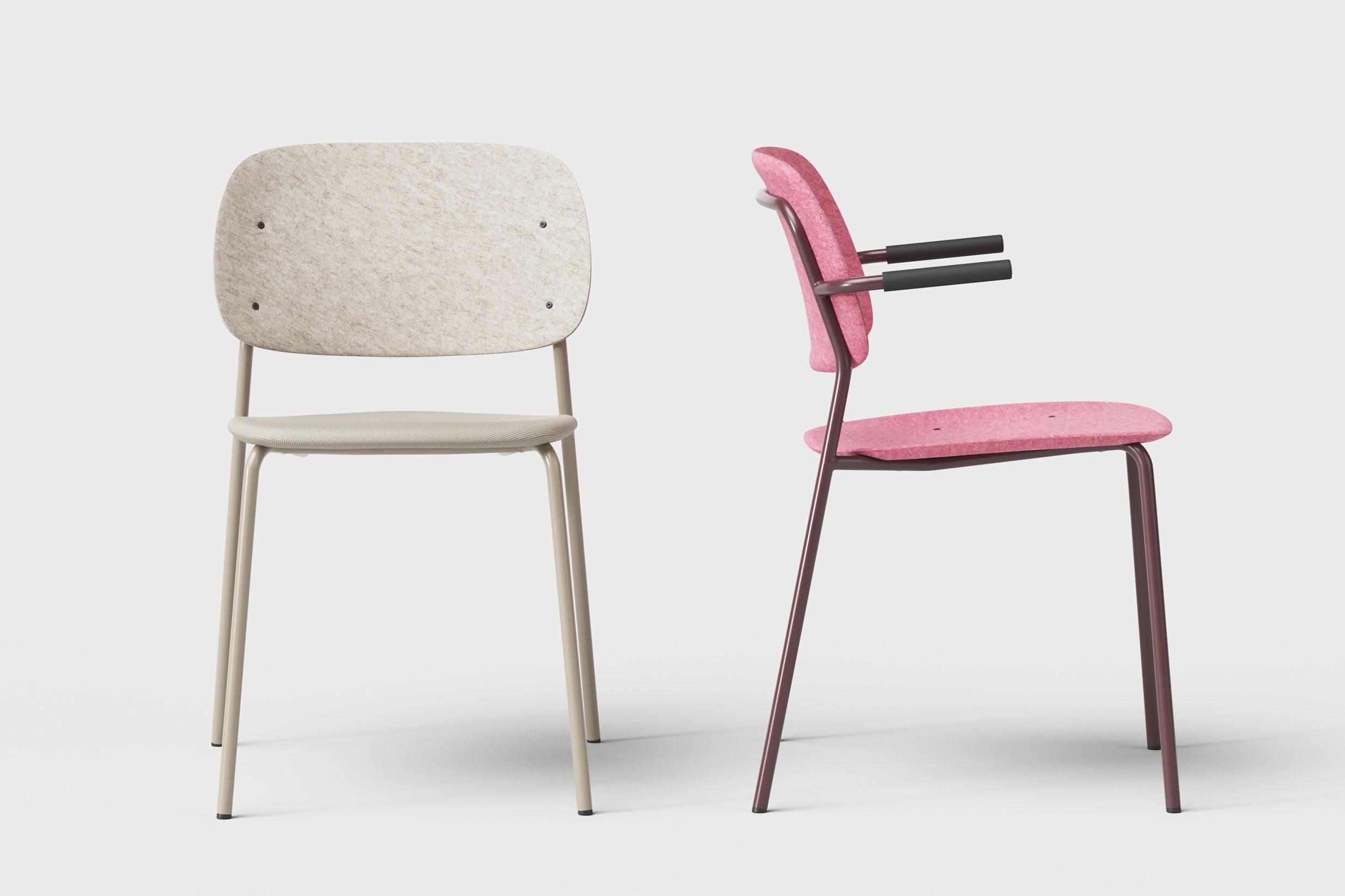 stolicky z devormu z recyklovaneho pet feltu