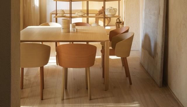 Masivny dubovy stol v jedalni Ermete od True designu